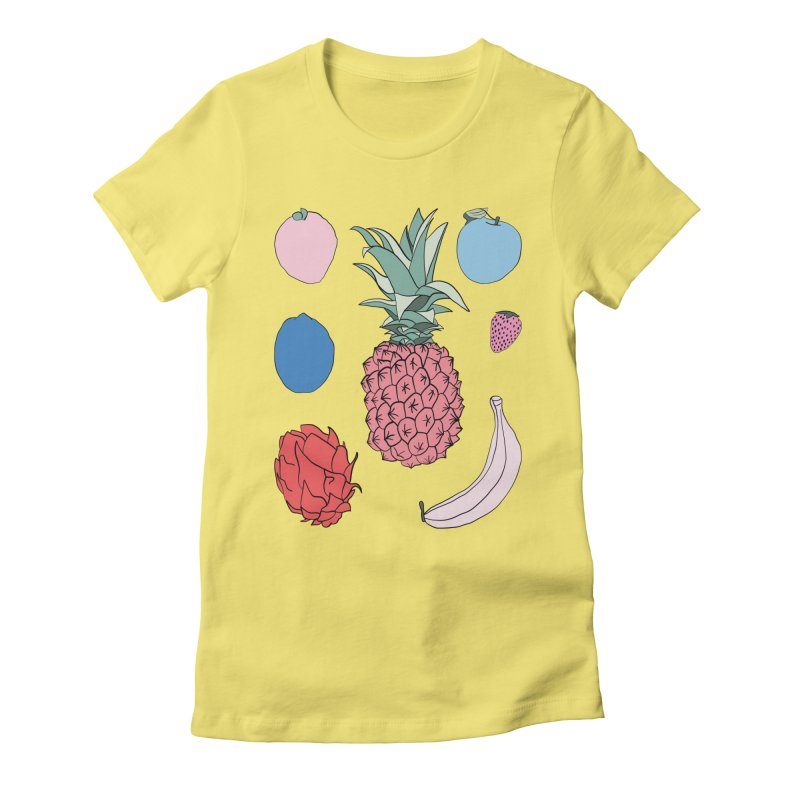 Fruit salad by Elebea Women's Fitted T-Shirt by elebea