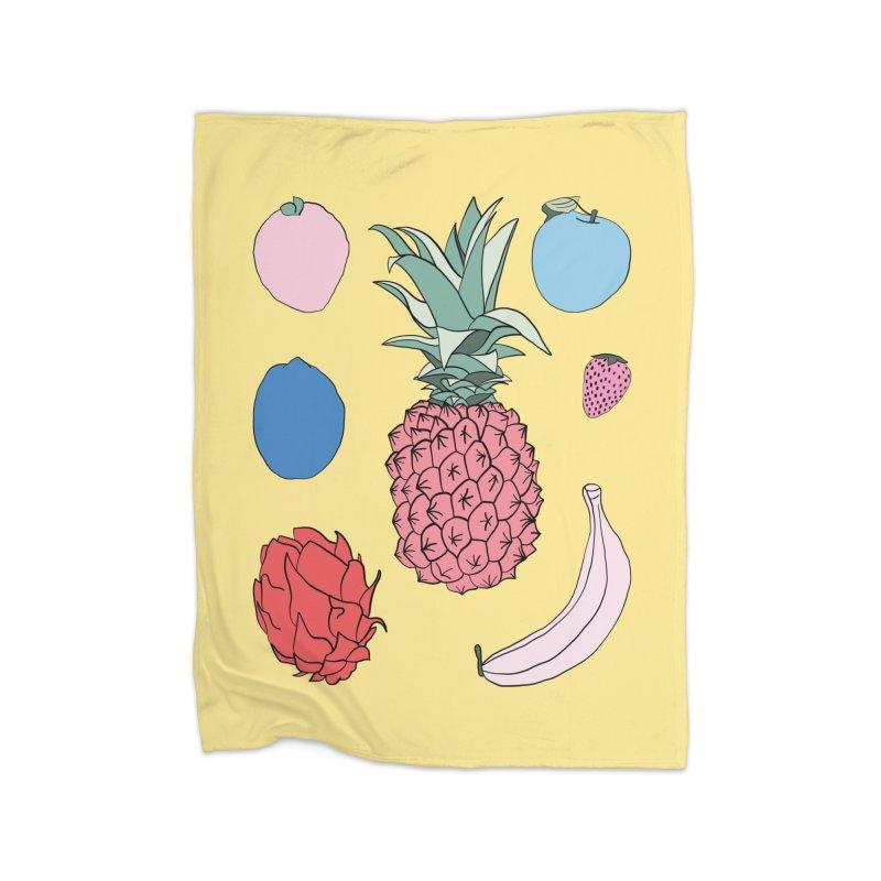 Fruit salad by Elebea Home Blanket by elebea