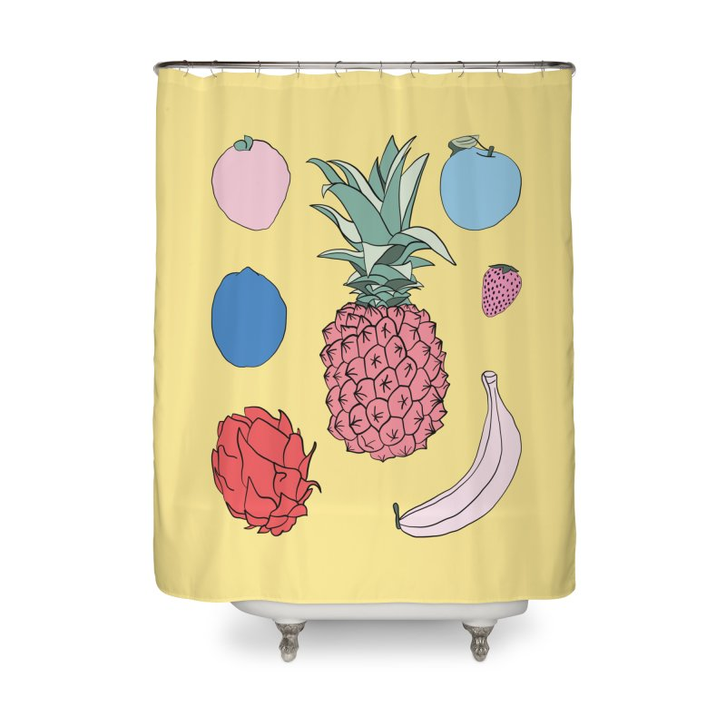 Fruit salad by Elebea Home Shower Curtain by elebea