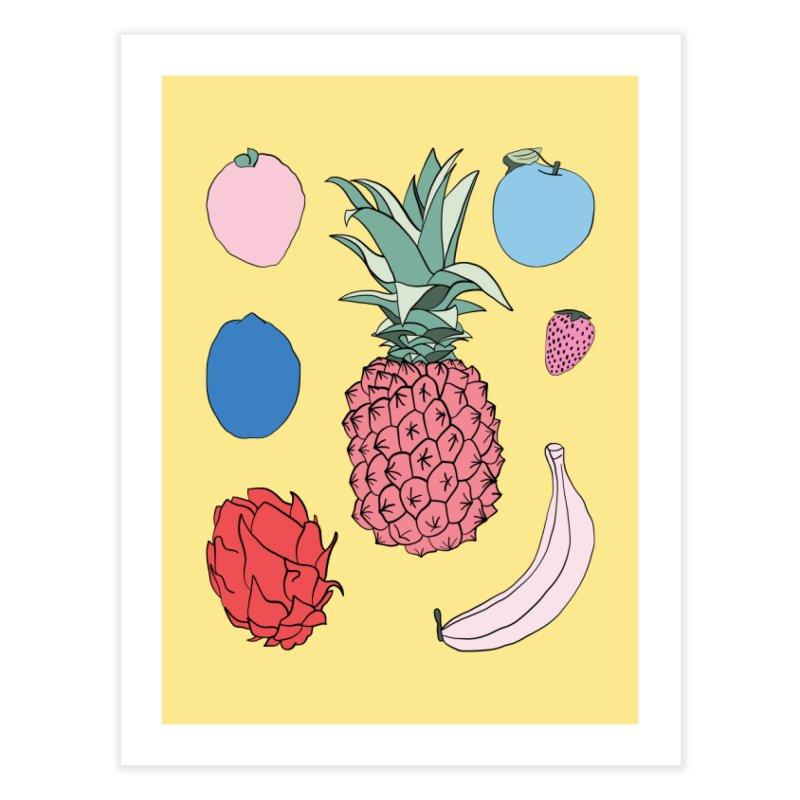Fruit salad by Elebea Home Fine Art Print by elebea