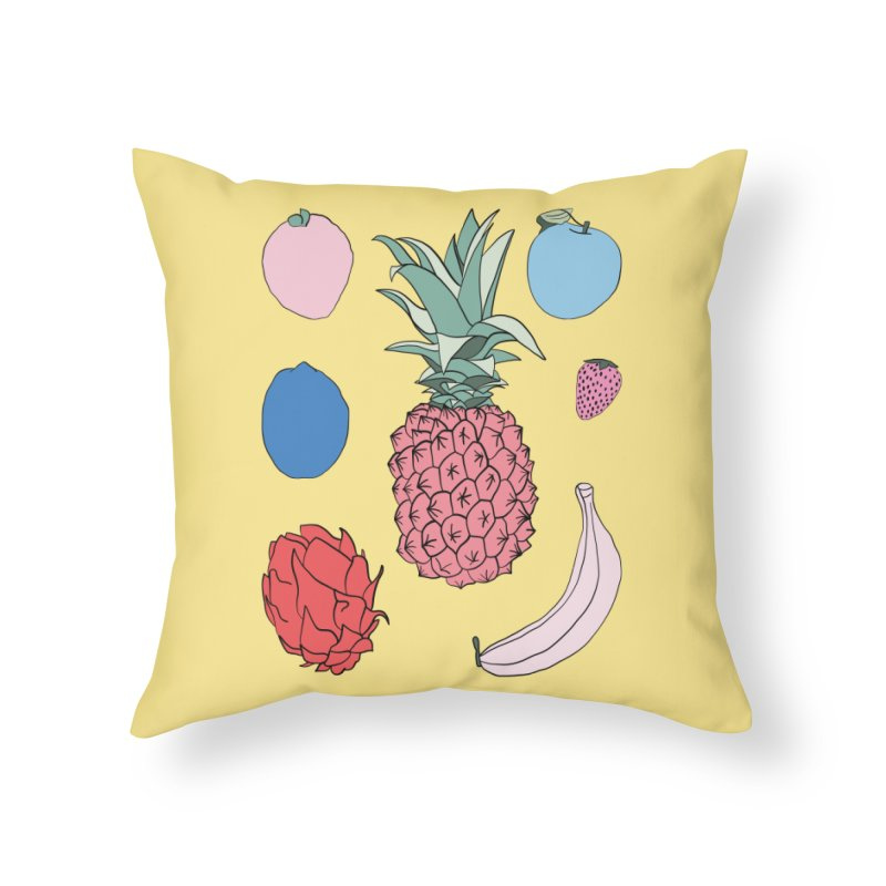 Fruit salad by Elebea Home Throw Pillow by elebea