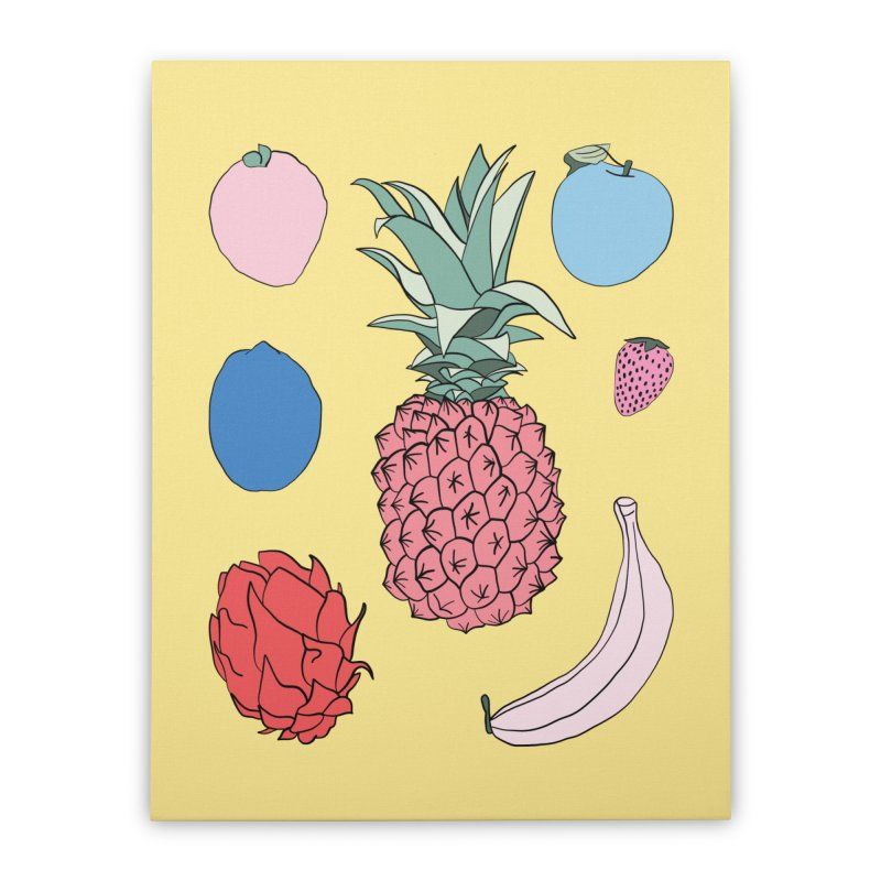 Fruit salad by Elebea Home Stretched Canvas by elebea