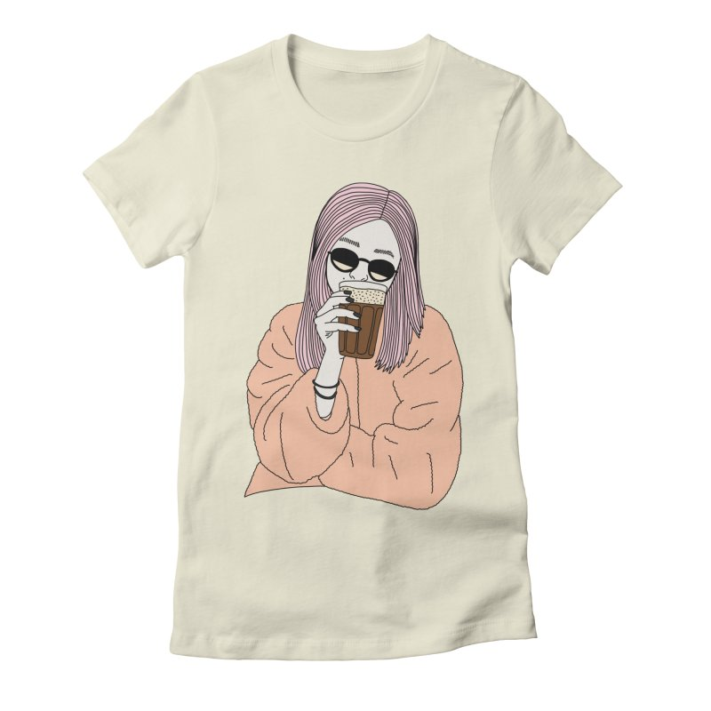 Cold coffee by Elebea Women's Fitted T-Shirt by elebea