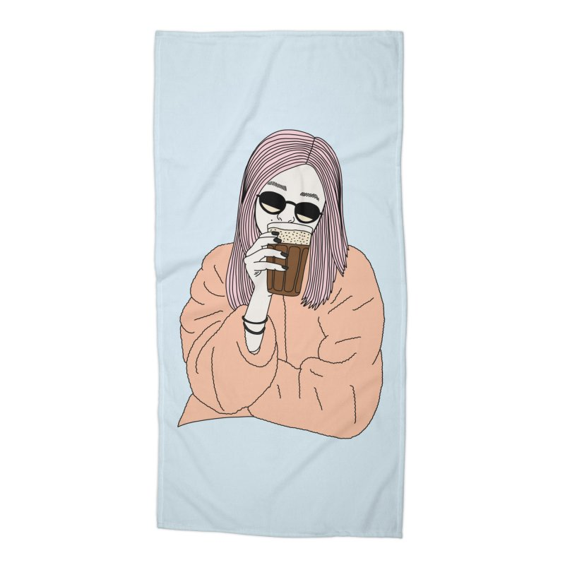 Cold coffee by Elebea Accessories Beach Towel by elebea