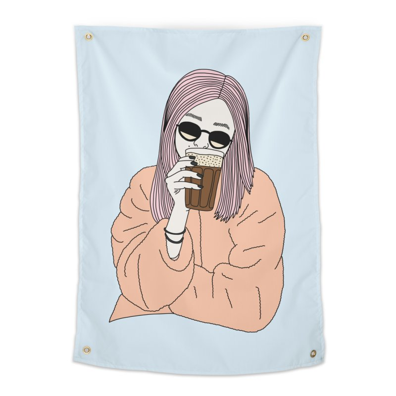 Cold coffee by Elebea Home Tapestry by elebea
