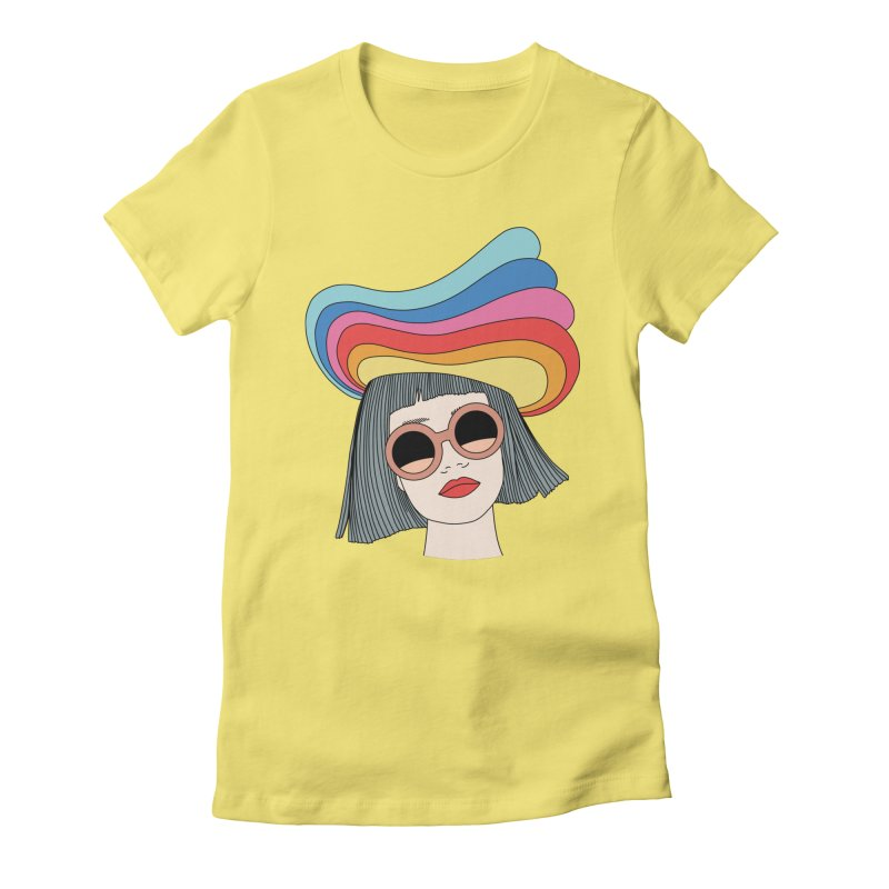Rainbow hat by Elebea Women's Fitted T-Shirt by elebea