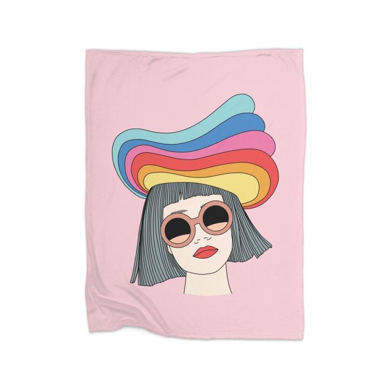 Rainbow hat by Elebea Home Blanket by elebea