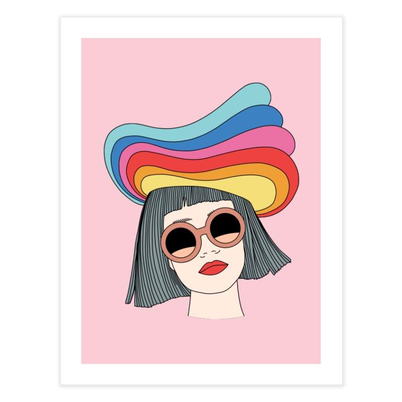 Rainbow hat by Elebea Home Fine Art Print by elebea