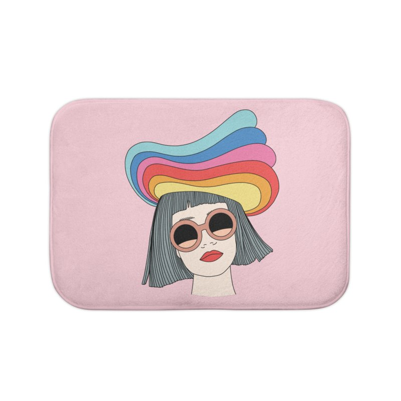 Rainbow hat by Elebea Home Bath Mat by elebea