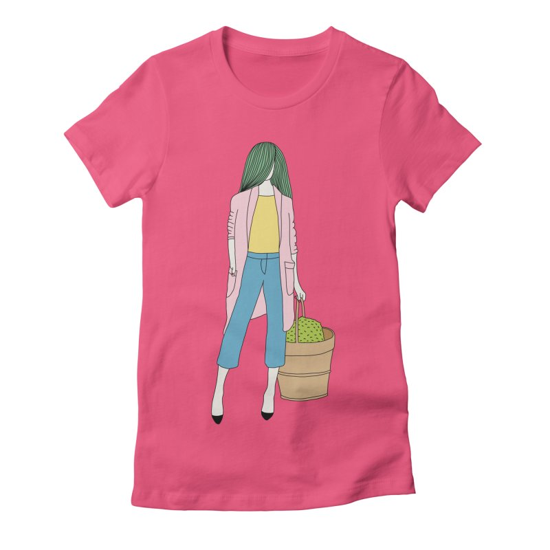 Basket by Elebea Women's Fitted T-Shirt by elebea