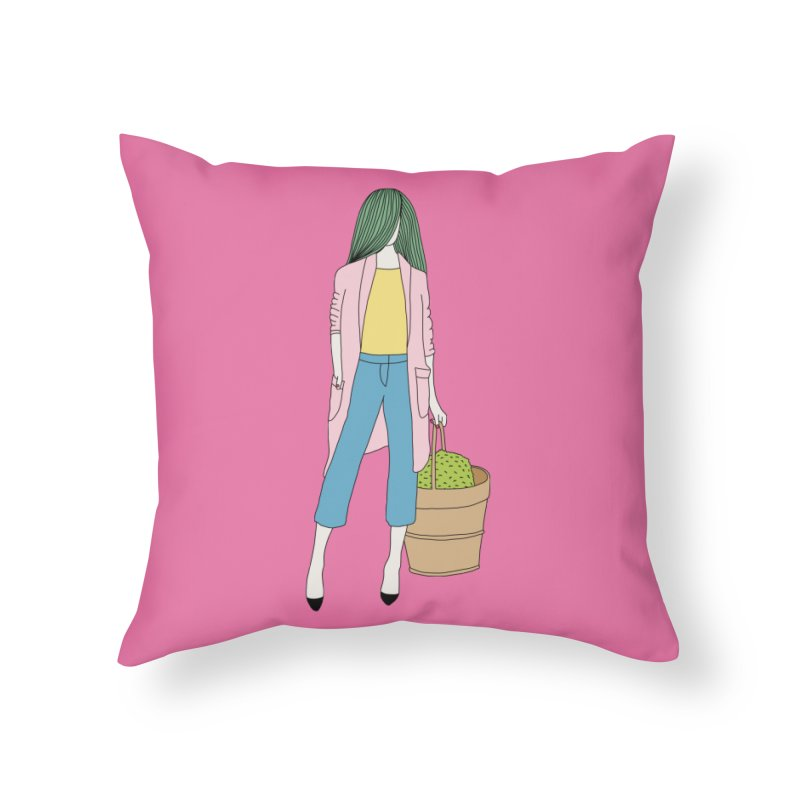 Basket by Elebea Home Throw Pillow by elebea