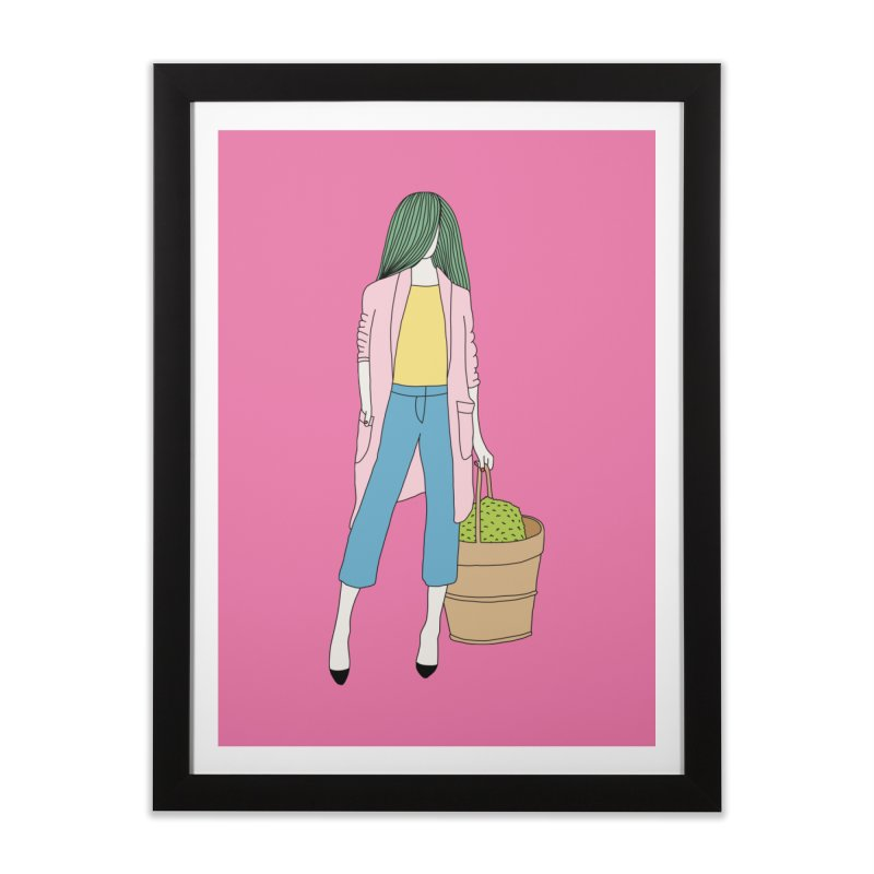 Basket by Elebea Home Framed Fine Art Print by elebea