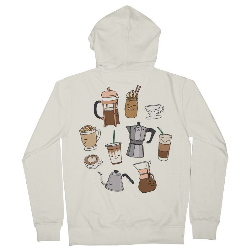Coffee paradise by Elebea Men's Zip-Up Hoody by elebea