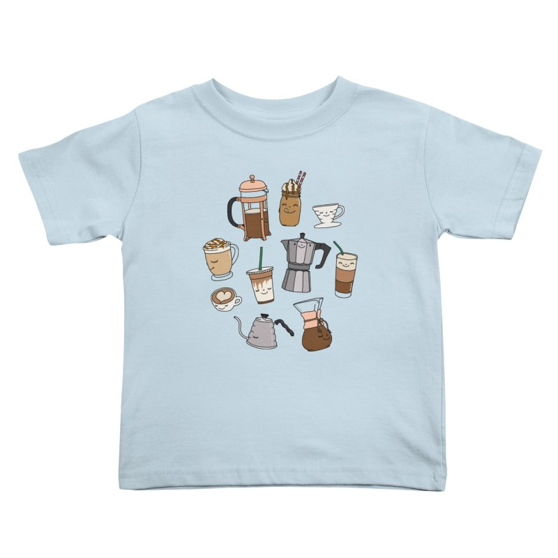 Coffee paradise by Elebea Kids Toddler T-Shirt by elebea