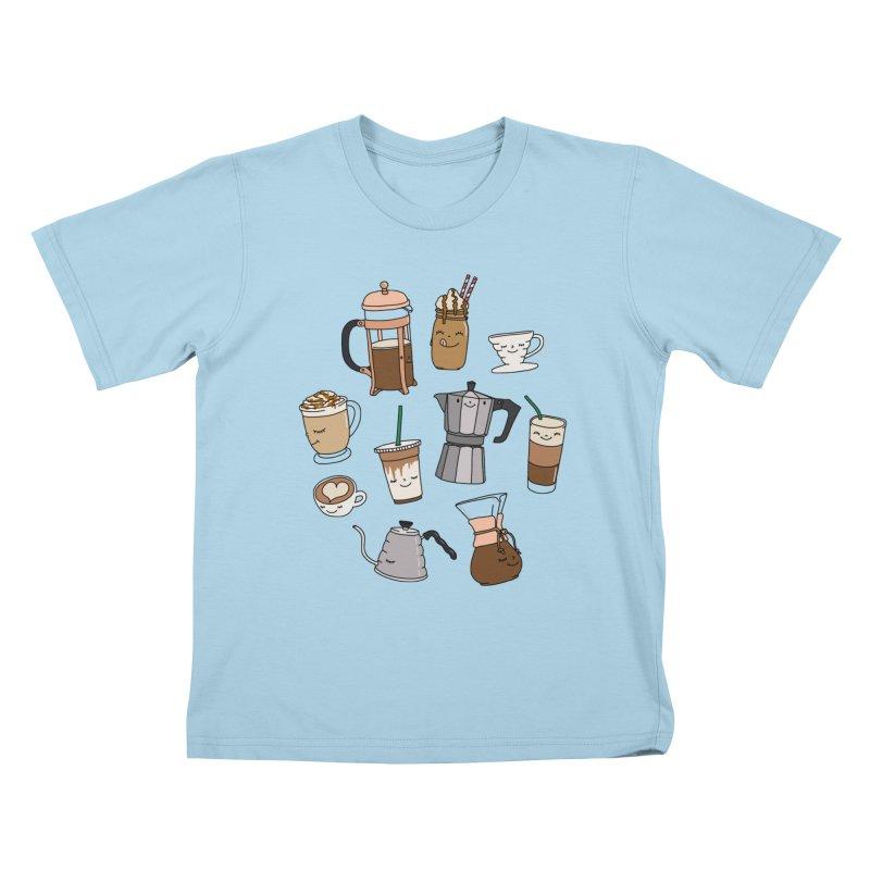 Coffee paradise by Elebea Kids T-Shirt by elebea