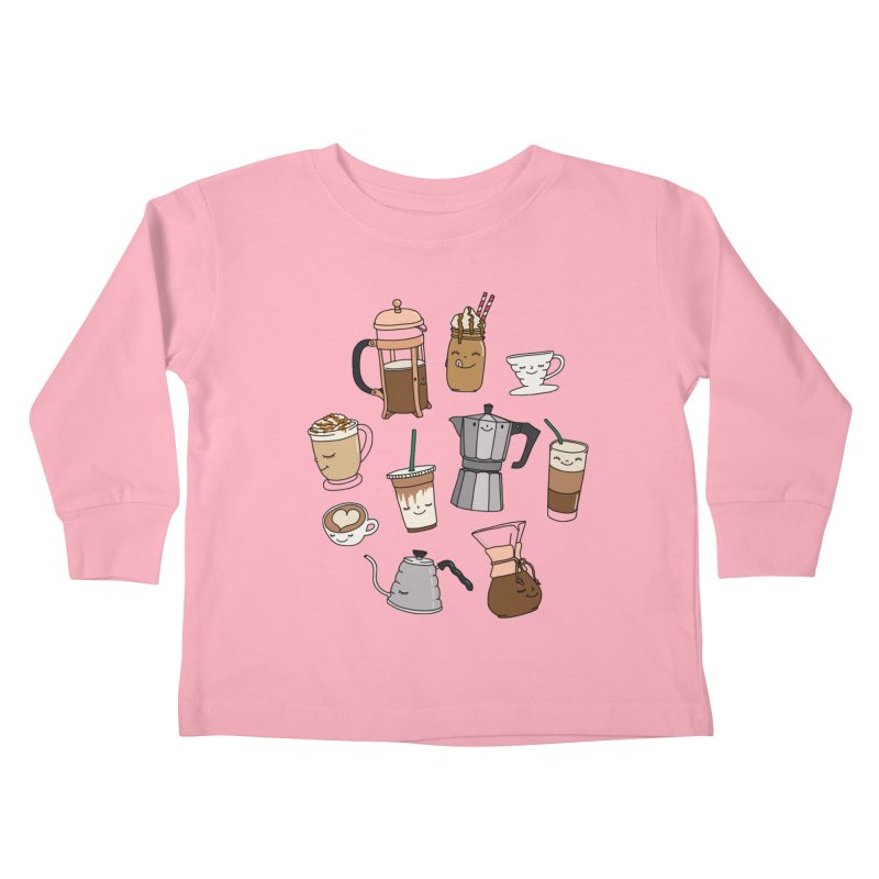 Coffee paradise by Elebea Kids Toddler Longsleeve T-Shirt by elebea