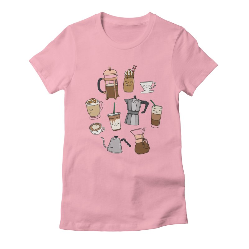 Coffee paradise by Elebea Women's Fitted T-Shirt by elebea