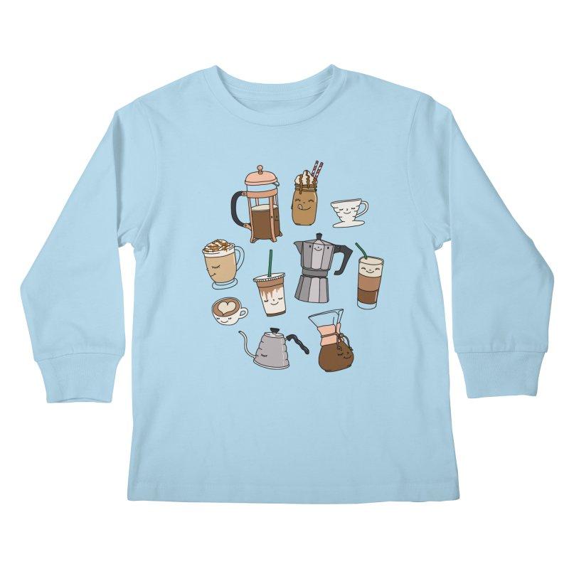 Coffee paradise by Elebea Kids Longsleeve T-Shirt by elebea