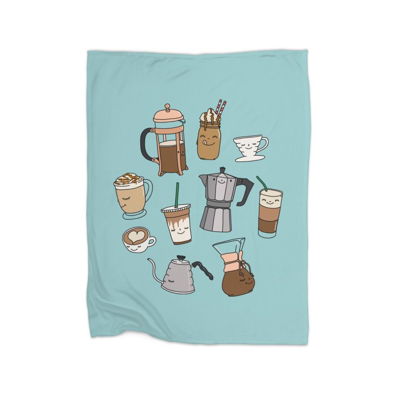 Coffee paradise by Elebea Home Blanket by elebea