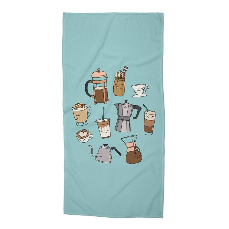 Coffee paradise by Elebea Accessories Beach Towel by elebea