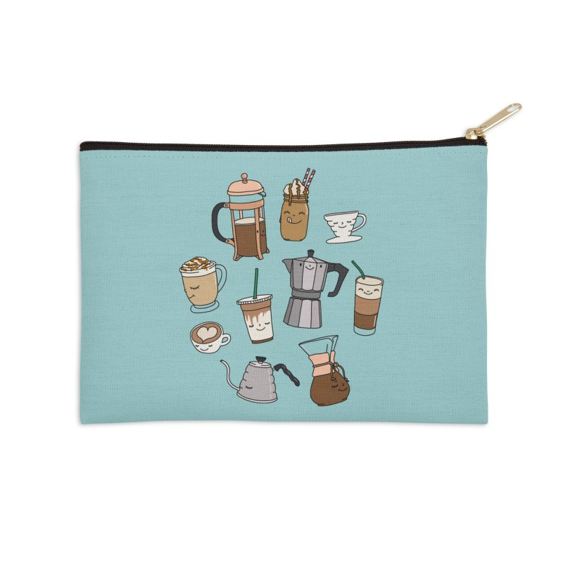 Coffee paradise by Elebea Accessories Zip Pouch by elebea