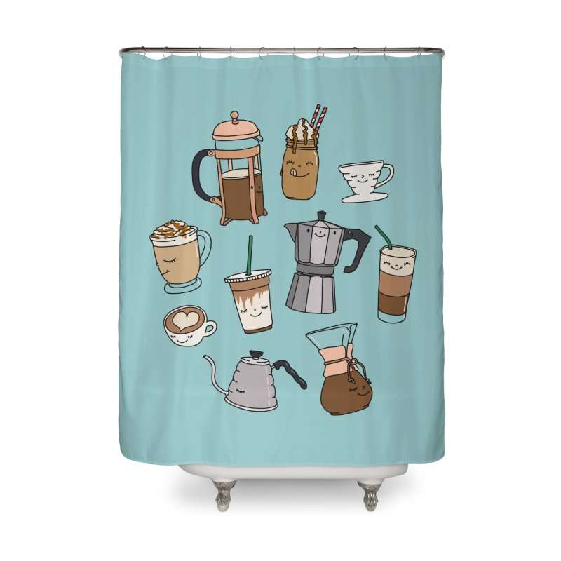 Coffee paradise by Elebea Home Shower Curtain by elebea