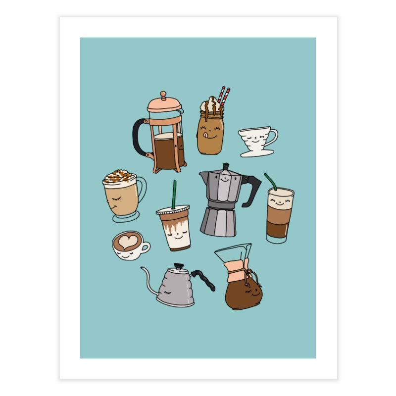 Coffee paradise by Elebea Home Fine Art Print by elebea