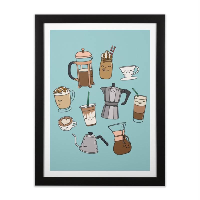 Coffee paradise by Elebea Home Framed Fine Art Print by elebea