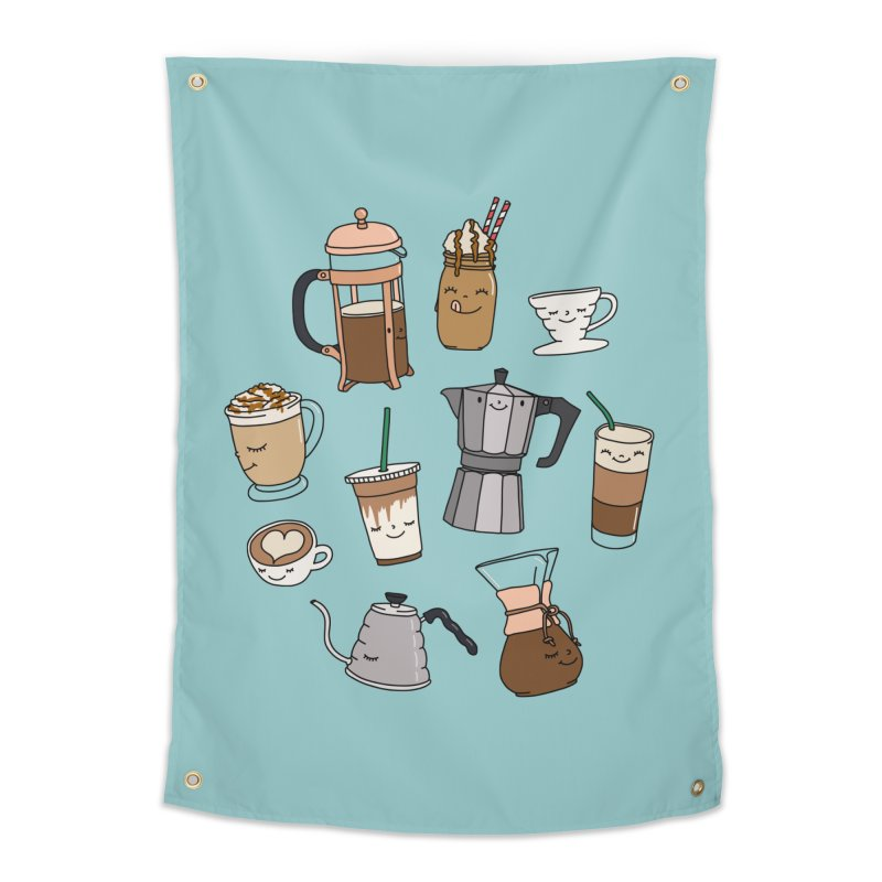Coffee paradise by Elebea Home Tapestry by elebea