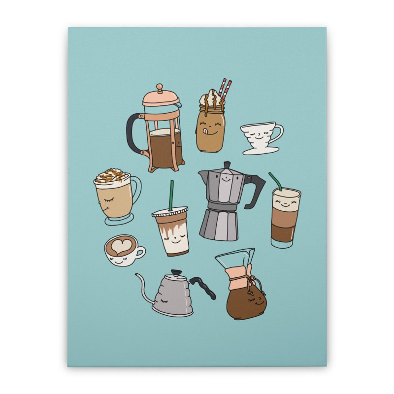 Coffee paradise by Elebea Home Stretched Canvas by elebea