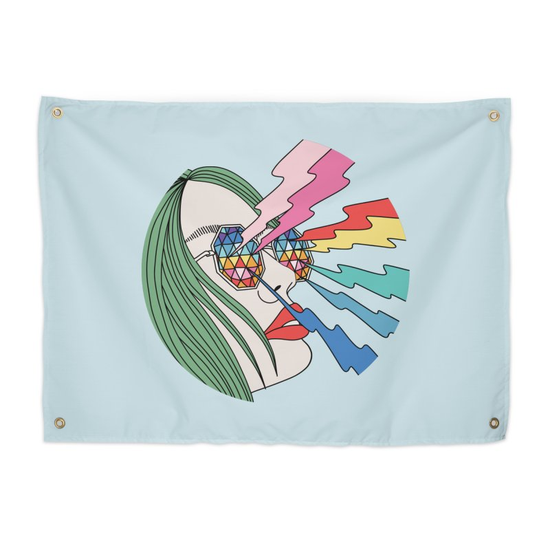 Rainbow glasses by Elebea Home Tapestry by elebea
