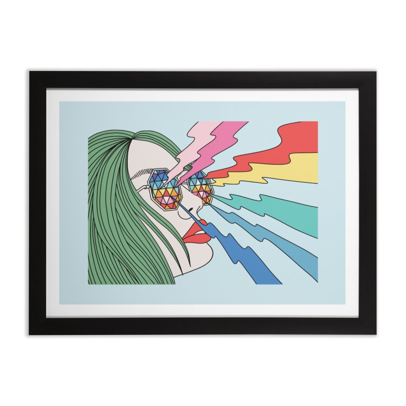 Rainbow glasses by Elebea Home Framed Fine Art Print by elebea