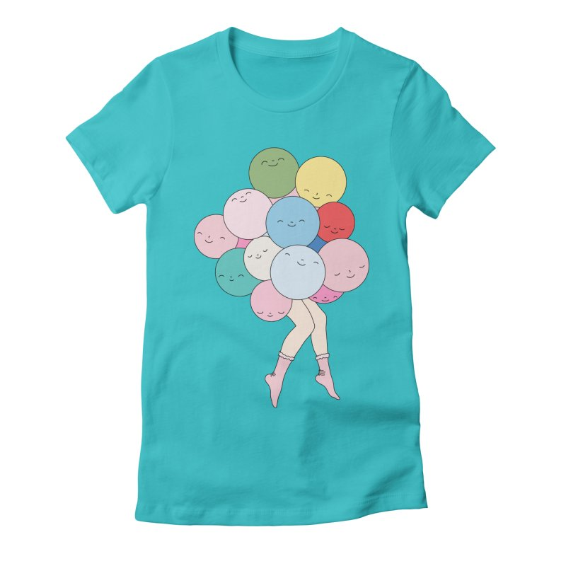 Sky party by Elebea Women's Fitted T-Shirt by elebea
