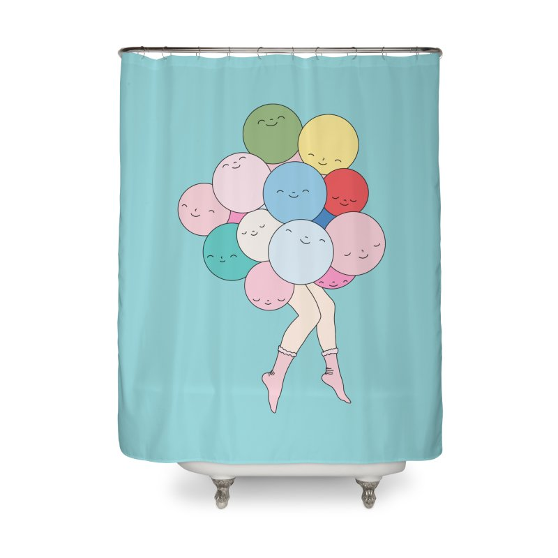 Sky party by Elebea Home Shower Curtain by elebea