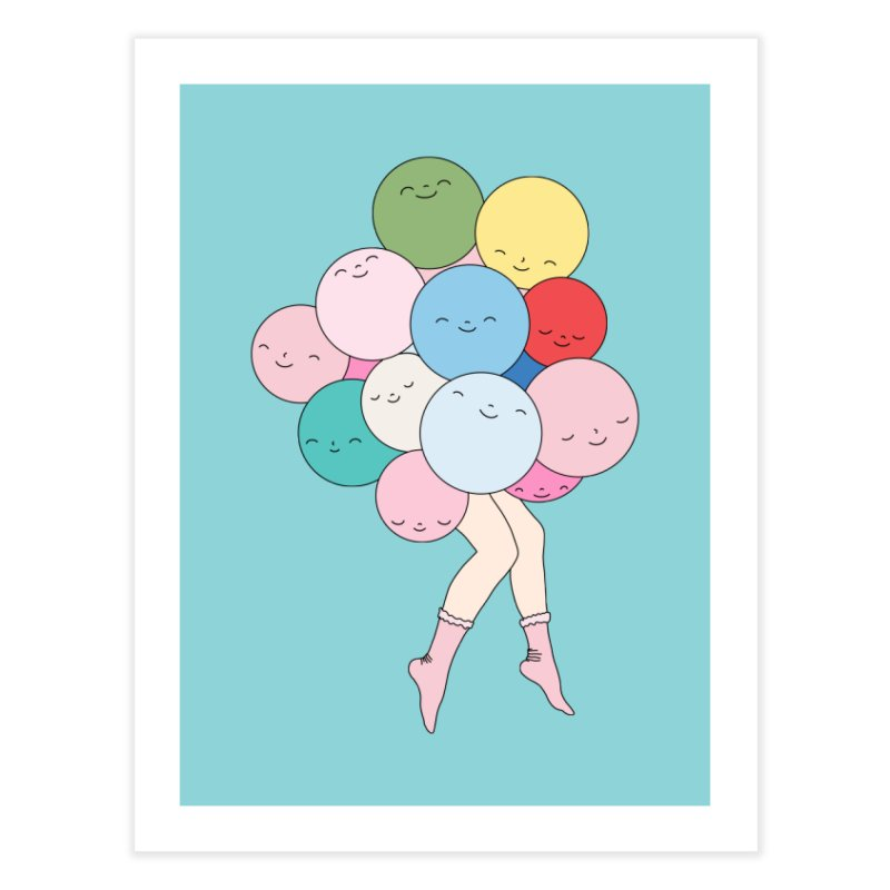 Sky party by Elebea Home Fine Art Print by elebea