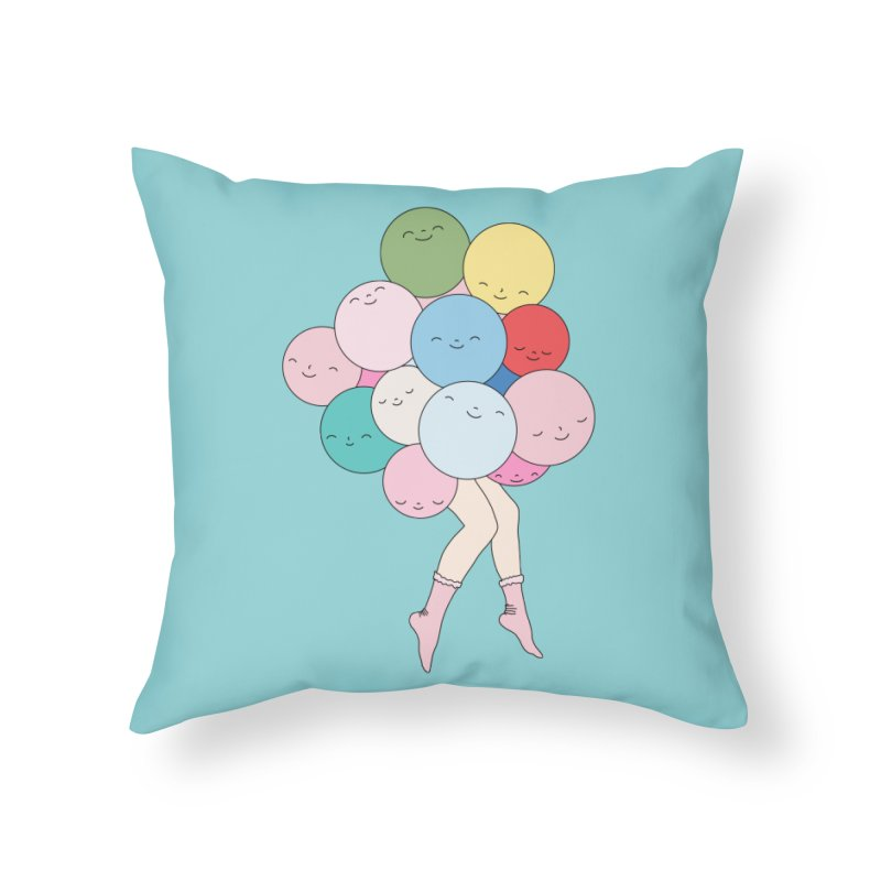 Sky party by Elebea Home Throw Pillow by elebea