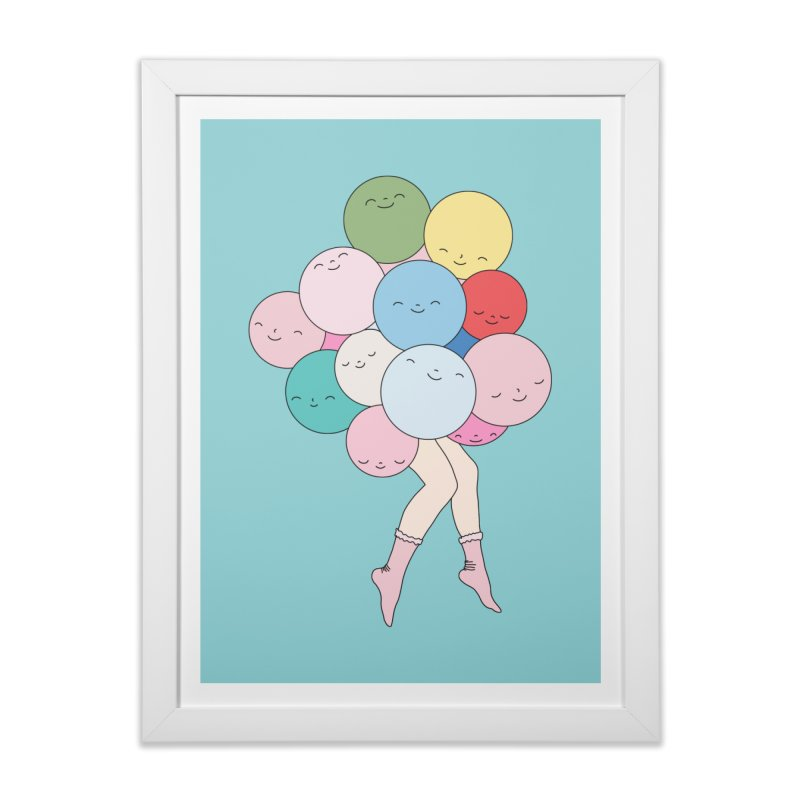 Sky party by Elebea Home Framed Fine Art Print by elebea