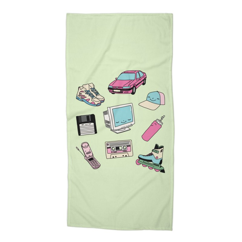 90s paradise by Elebea Accessories Beach Towel by elebea