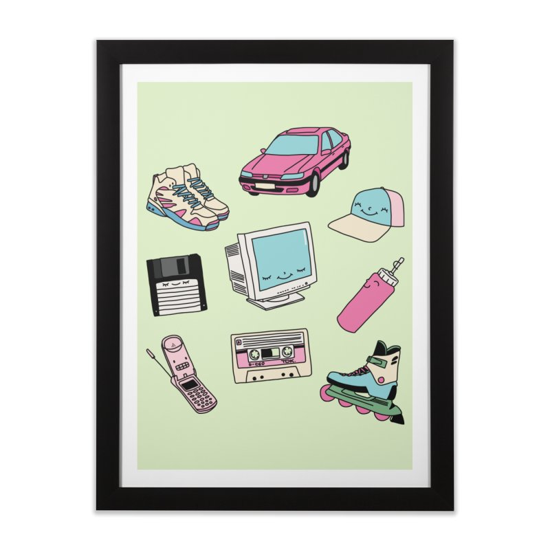 90s paradise by Elebea Home Framed Fine Art Print by elebea