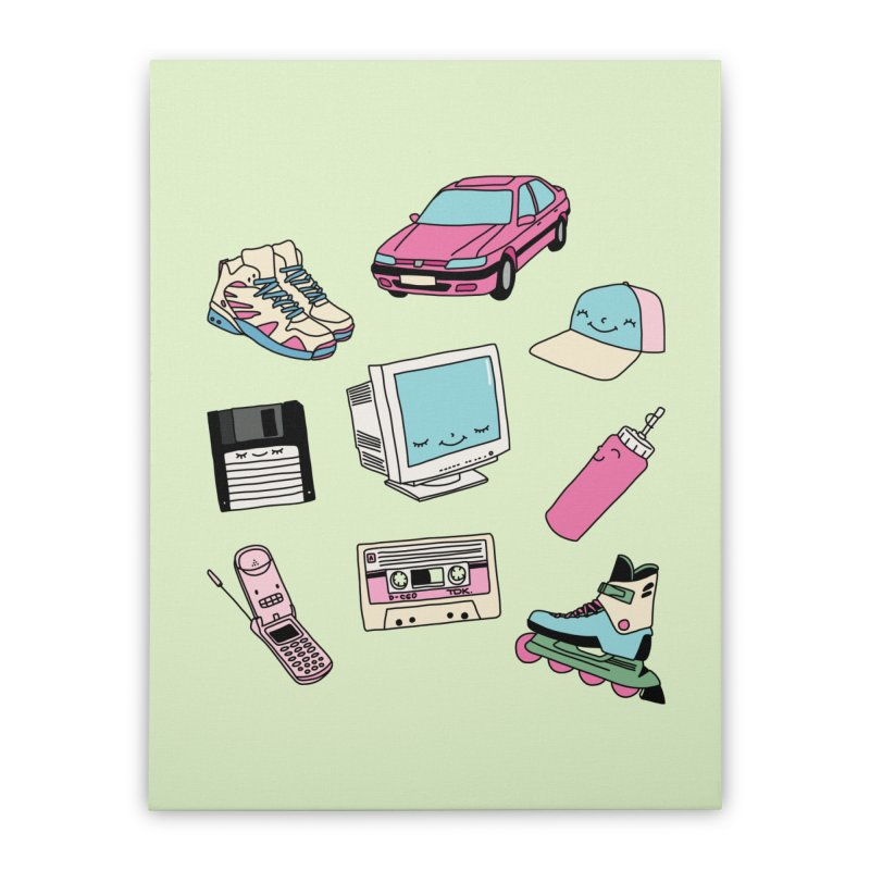90s paradise by Elebea Home Stretched Canvas by elebea