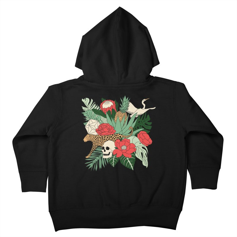 Tropical paradise by Elebea Kids Toddler Zip-Up Hoody by elebea