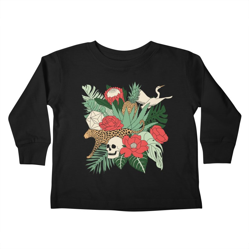 Tropical paradise by Elebea Kids Toddler Longsleeve T-Shirt by elebea