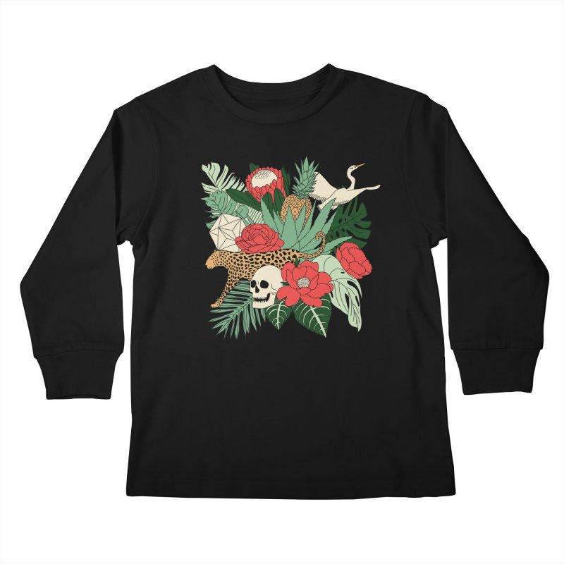 Tropical paradise by Elebea Kids Longsleeve T-Shirt by elebea