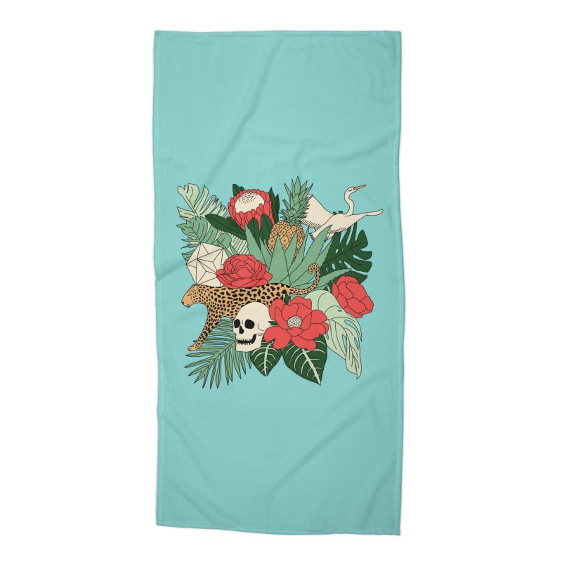 Tropical paradise by Elebea Accessories Beach Towel by elebea