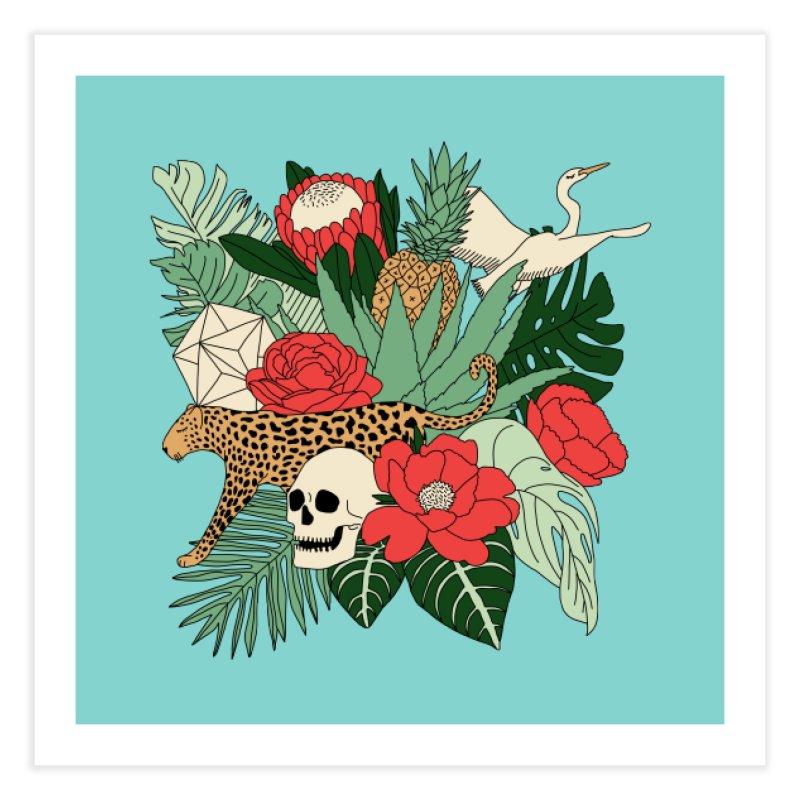Tropical paradise by Elebea Home Fine Art Print by elebea