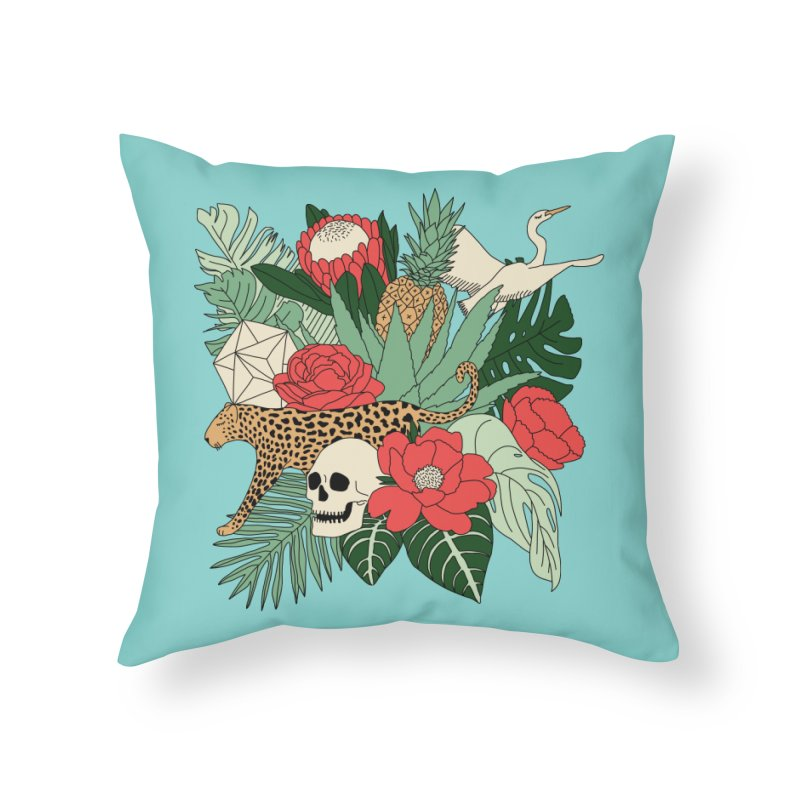 Tropical paradise by Elebea Home Throw Pillow by elebea