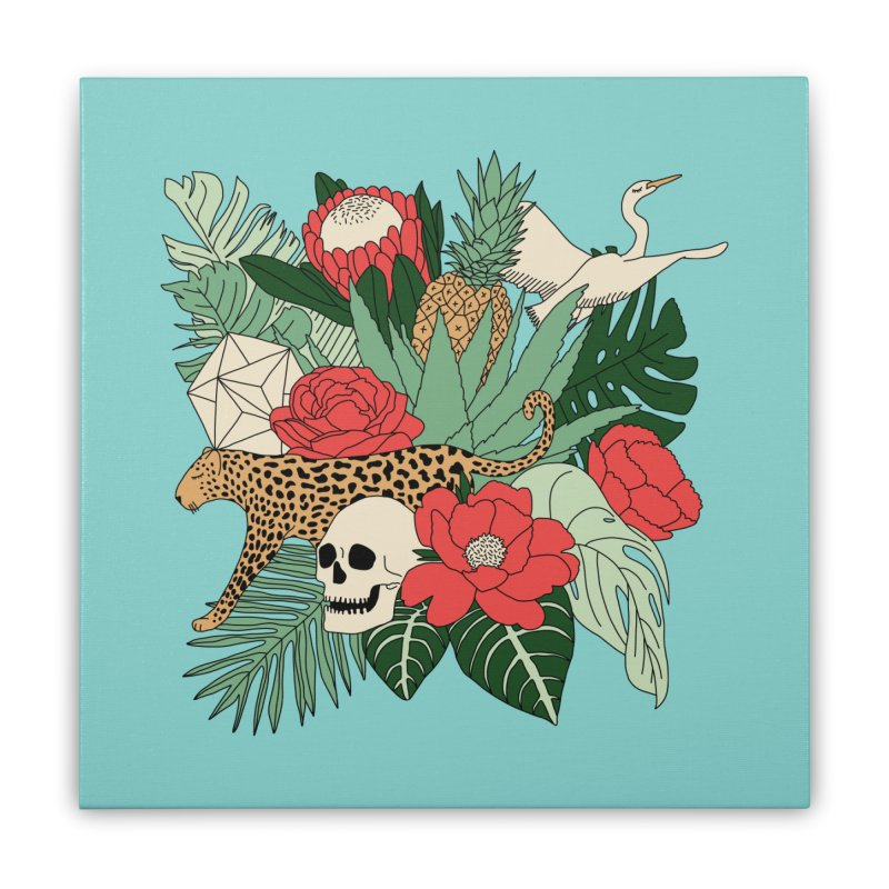 Tropical paradise by Elebea Home Stretched Canvas by elebea
