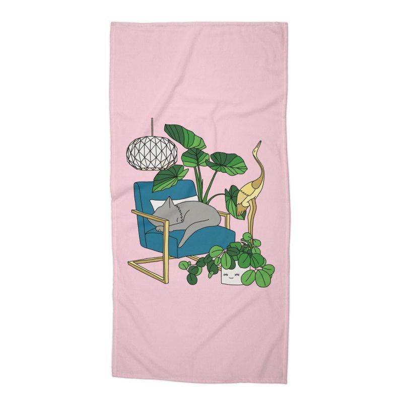 Cat nap by Elebea Accessories Beach Towel by elebea