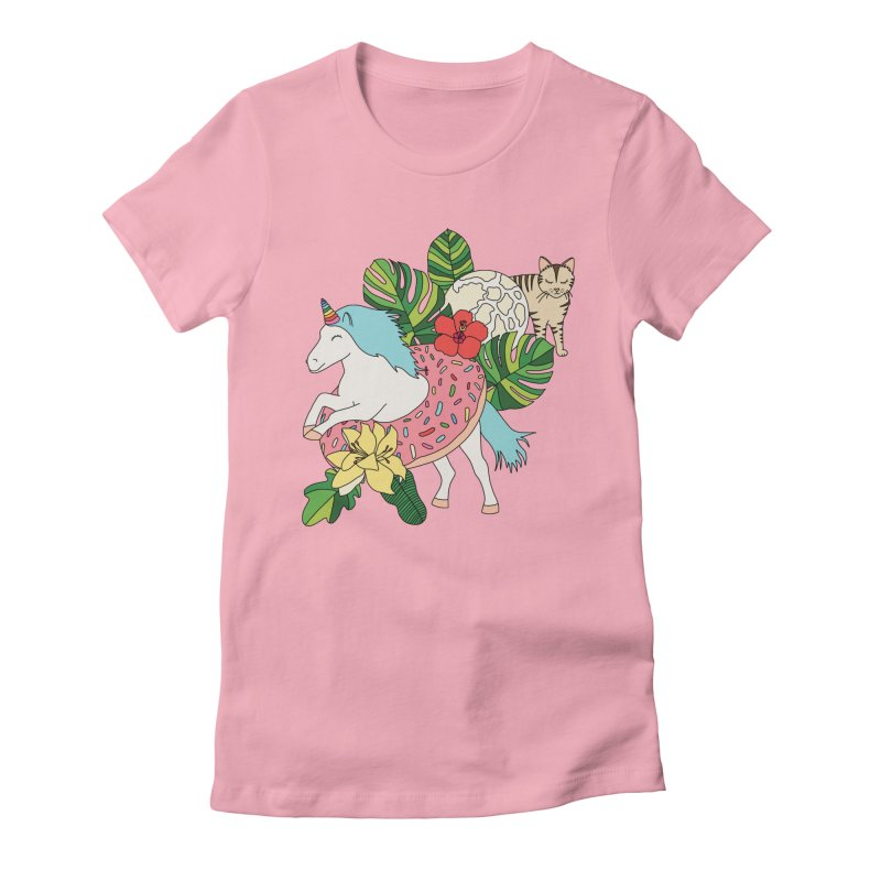Unicorn paradise by Elebea Women's Fitted T-Shirt by elebea