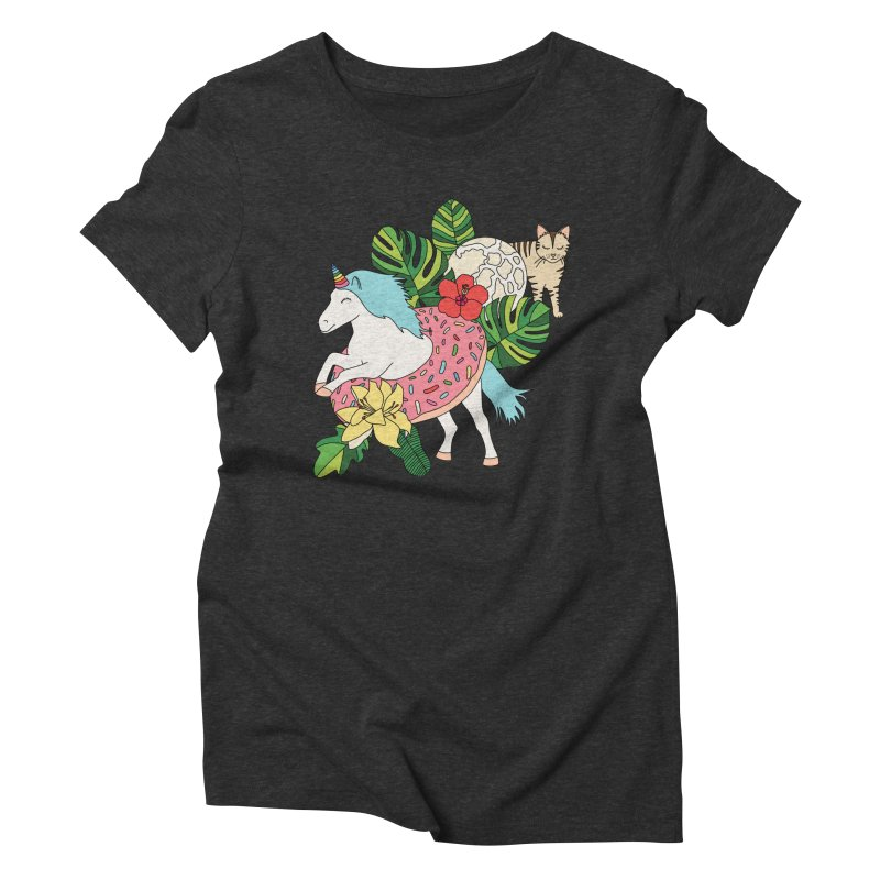 Unicorn paradise by Elebea Women's Triblend T-Shirt by elebea